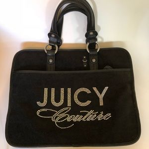 Juicy Couture Laptop Bag Black Bling Rhinestone